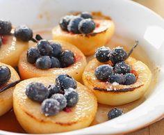 Pesche vanigliate ai mirtilli