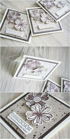 Stampin Up Flower Shop 3x3 Card