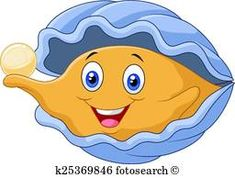 Cartoon Oyster Holding Pearl Stock Vector - Illustration of oyster, eyes: 50840007 Oyster Image, Emoticon Feliz, Shark Images, Silly Faces, Girls Quilts, Fauna, Cute Images, Clams, Marine Life