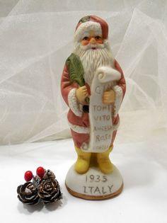 1935 Italy Santa Ceramic Figurine Vintage by Beadgarden55 on Etsy