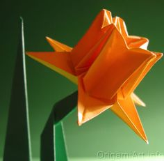DIY: how to make a daffodi origami with video