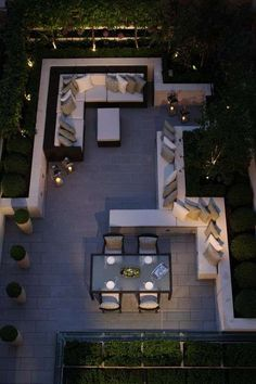 """""""Gardens are for people"""" - outdoor living and dinning room, by Helen Green terrace design Top Interiors Designers in UK – Part 5 Outdoor Rooms, Outdoor Gardens, Outdoor Seating, Roof Gardens, Outdoor Lounge, Outdoor Living Spaces, City Gardens, Outdoor Cinema, Courtyard Gardens"""