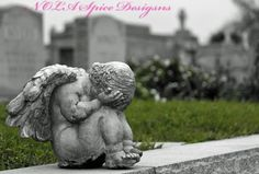 Cherub of Grief New Orleans Cemetery Photography