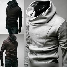 Welcome to shop:aeqiming0    Mens Slim Fit Sexy Top Designed Hoodies Jackets Coats E520 3Color 4Size FF1037  Size:Asian M L XL XXL XXXL (US XS S M L XL)  Color:Black Gray Coffe    Asia sizes is smaller than US size ,SO please, make sure of these actual measurements will fit you  Manual measuremen...