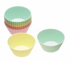 KitchenCraft Sweetly Does It Treat Sized Mini Muffin Cases Reusable Silicone Baking Cups , Assorted Colours, cm, Set of 12 Cupcake Mold, Cupcake Cases, Paper Cupcake, Muffin Cupcake, Cupcake Liners, Pastel Cupcakes, Cute Cupcakes, Baking Set, Baking Cups