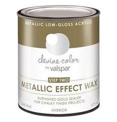 Devine Color Chalky Finish Paint - Metallic Wax - Medium Clear - BLINQ