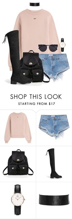 """Untitled #1710"" by i-am-leia ❤ liked on Polyvore featuring Off-White, One Teaspoon, Coach, Daniel Wellington and Vera Wang"