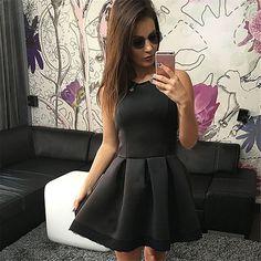 Women Sleeveless High Waist Lace Dress