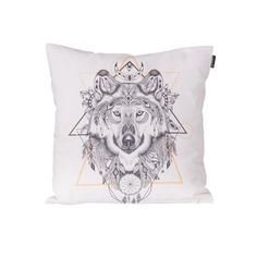 Obliečka Indian Wolf 45x45cm     #vankuse#dremandfun#obyvacka#detskaizba#spalna Indian Wolf, Hand Sewing, Pillow Covers, Throw Pillows, Texture, Fun, Products, Textiles, Cotton