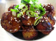 Hoisin Meatballs - check out the recipe at www.thermolicious.com.au #thermomix #thermochef #meat #family #food