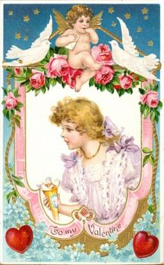 To My Valentine - Frances Brundage postcard
