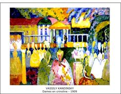 "artist-kandinsky: ""Crinolines by Wassily Kandinsky Size: cm Medium: oil on canvas"" Canvas Artwork, Oil On Canvas, Canvas Prints, Art Prints, Karl Otto, August Macke, Franz Marc, Wassily Kandinsky Paintings, Kandinsky Prints"