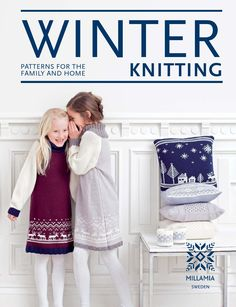 Winter Knitting by MillaMia  With over 23 patterns for the family and home.     As the seasons change from cool, crisp autumn to the cold and dark of winter, Scandinavians are particularly good at easing the transition with clothing, interiors and food that bring warmth and light. In this book you will find a mix of knitting projects to see you through the cold season, including stylish garments and accessories for adults and children, as well as cosy homewares. Indulge in knitting yourself…