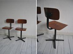 2 vintage Kinderstühle/Schulstühle aus den 70ern,  ein vintage Hingucker im individuell gestalteten Kinderzimmer,  altersbedingte Gebrauchspuren vorha