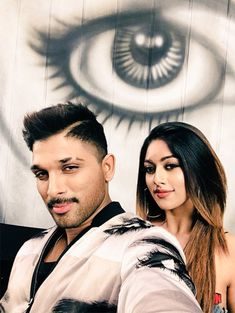 Allu Arjun and Anu Emmanuel Selfie From NaPeruSurya NaIlluIndia MOvie Sets, Allu Arjun's upcoming movie Naa Peru Surya is all set to hit the screens on May Anu Emmanuel is playing the love interest of Allu Arjun in the film. Romantic Couple Images, Couples Images, Cute Couple Pictures, Cute Couples, Funny Pictures, Allu Arjun Images, Anu Emmanuel, Actors Images, Real Hero