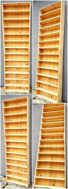 This giant wood pallet shelf plan is the ideal one to make a part of your home. This rustic-looking pallet furniture item is best to locate in your lounge, in your kitchen or in any area of your home to meet your storage requirements with it.  #pallets #woodpallet #palletfurniture #palletproject #palletideas #recycle #recycledpallet #reclaimed #repurposed #reused #restore #upcycle #diy #palletart #pallet #recycling #upcycling #refurnish #recycled #woodwork #woodworking…