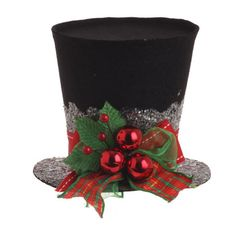 Holly Top Hat from Raz Imports