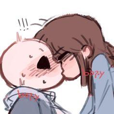 Tumblr Frans Undertale, Undertale Comic, Surprise Kiss, Sans E Frisk, Kissing, Fanart, Geek Stuff, Animation, Ship