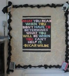 Image detail for -This high school bulletin board was created to promote good behavior ...