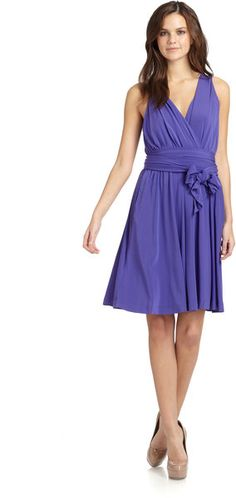 99ccf578db0c Halston Heritage Wrap Bodice Dress in Purple - Lyst Halston Heritage, Wrap  Around, Purple
