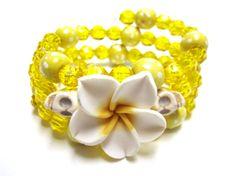 Day Of The Dead Bracelet Sugar Skull White by sweetie2sweetie, $12.99