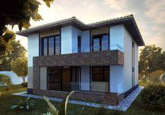 case moderne cu etaj Modern two story houses 12