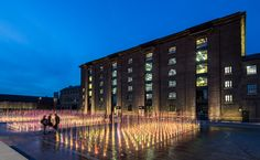 Granary Square, King's Cross At the centre of the square are 4 impressive banks of fountains, which contain over 1080 individual jets, making it one of the largest water features in Europe. The...