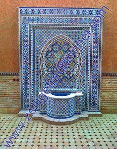 Des Fontaines en zellige  marocain.   pour Connaître le bon prix Contactez-moi sur  Tél+ Whatsapp : +212 (0) 6 72 73 23 49  émail : Zellige_traditionnel@yahoo.fr