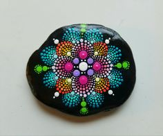 Mandala Stone/Painted Rock/Hand Painting by Miranda Pitrone/Rock Art/Painted Stones/Happy Home Decor/Paperweight/Gift Idea by P4MirandaPitrone on Etsy
