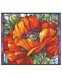 Cross Stitch Craze: Stained Glass Cross Stitch Patterns Poppy flowers