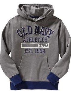 Boys Applique-Logo Hooded Sweatshirts