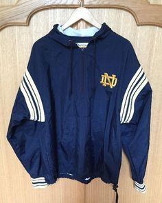 NCAA Football Champion Notre Dame Fighting Irish Lined Hooded Windbreaker Jacket…