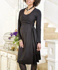 04a21700e5a JoJo Maman Bébé Black Maternity Nursing Wrap Dress