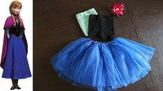 Baby Girl Child Disney's Frozen Princess Anna Inspired Costume Dress Tutu Outfit | eBay