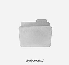 Magazin Rack aus Beton in Form einer Computerdatei Symbol: http://sturbock.me/portfolio/zeitschriftenhalter-3/
