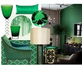 Some ideas for decorating with Emerald Green the Pantone color of the season