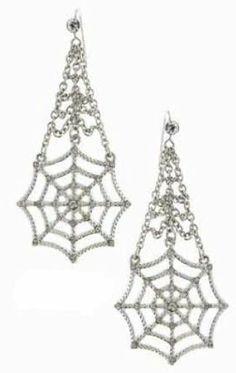 Spider-Man Marvel Comics Crystal Chandelier Earrings