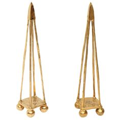 """Obelisco"" Decorative Tabletop Obelisk in Bronze by Aldus at 1stdibs"