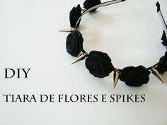 DIY: Como Fazer Tiara de Flores e Spikes (Spiked Floral Headband - Pastel Goth) - YouTube