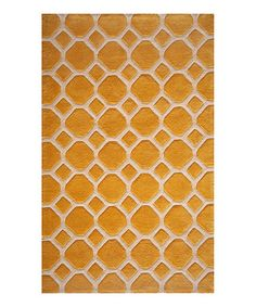 Take a look at this Gold Garden Tile Rug by Momeni Rugs on #zulily today! $21.99-319.99, regular 79.00-859.00