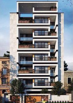 Residential Building Design, Building Exterior, Building Facade, Concept Architecture, Facade Architecture, Residential Architecture, Facade Design, Exterior Design, Tower Apartment