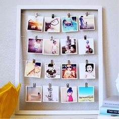 Photo Wall: See How-To Tips Inspirations World Of Interiors, Exposition Photo, Diy Foto, Diy Clothes Rack, Fotos Do Instagram, Photo Craft, Diy Wall Art, Photo Displays, Wall Collage