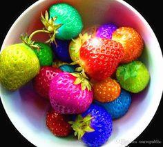 sobre vendas 24kinds de sementes de morango, branco, amarelo, azul, preto, vermelho, verde, grande