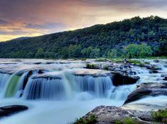 Sandstone Falls in Wild, Wonderful West Virginia (Almost Heaven).