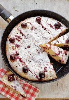 Oggi a La Prova del Cuoco: Torta di ciliegie in padella