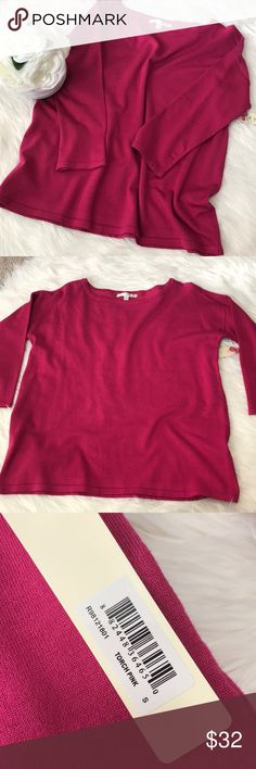 Cyrus blouse Torch pink Cyrus blouse! NWT  Bust 20  Length 22  { I am not a professional photographer, please keep in mind actual color may vary slightly from pics} Measurements approximate  +20% off bundles of 2 or more items +No trades  +No holds +No lowball offers please cyrus Tops Blouses