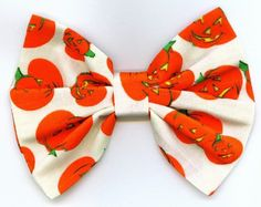 Handmade Fall Autumn Halloween Hair Bow Hair Bows by thriftyvicki