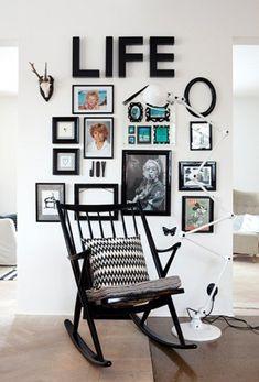 """Inspirações para combinar quadros na mesma parede e montar uma """"gallery wall""""."""
