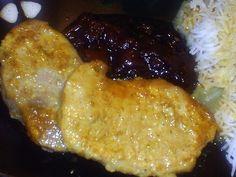 Boneless Pork Loin Chops in a Coconut Curry Sauce