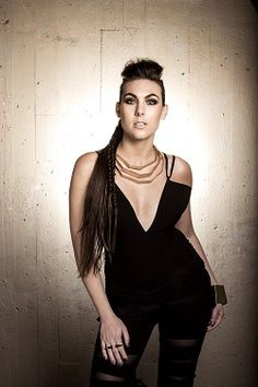 """Interview by Tony Cannella Is it me or does it seem like the Amaranthe's """"Massive Addictive"""" tour has been going on forever? Not that it is a bad thing. Power Metal Bands, Heavy Metal Girl, Alternative Girls, Alternative Music, Symphonic Metal, Nu Metal, Hot Band, Sexy Older Women, Hard Rock"""